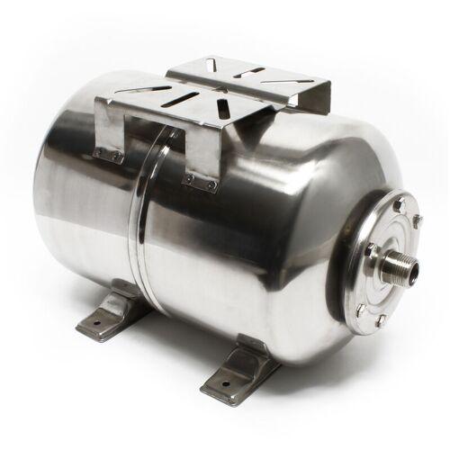 WILTEC Edelstahl 100 l Ausdehnungsgefäß für Hauswasserwerke und