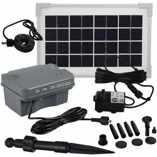 AGORA-TEC ® Solar Springbrunnen Teich - Pumpen - Set mit Akku und LED Licht