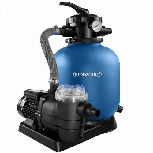 DEUBA Monzana Sandfilteranlage mit Vorfilter XXL Tank 10.200 l/h Filteranlage
