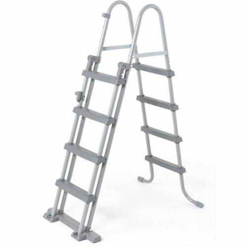 ALICE'S GARDEN Symmetrische 4-Stufen Leiter für Pools bis 122 cm Höhe, Poolzubehör