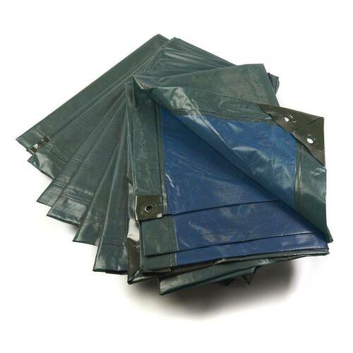 FORSTMEISTER Abdeckplane, grün/blau, extrem stark 150 g/ m²,8 x 12 m - Forstmeister