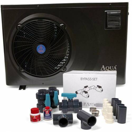 AQUAFORTE Full Inverter Wärmepumpe 11,5 kW inkl. Wi-Fi + Bypass-Set - Aquaforte