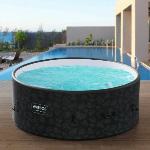 AREBOS In-Outdoor Whirlpool Spa Pool Wellness Heizung Massage