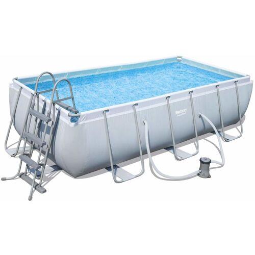 BESTWAY Pool Set eckig Power Steel 404 x 201 x 100 cm - Bestway