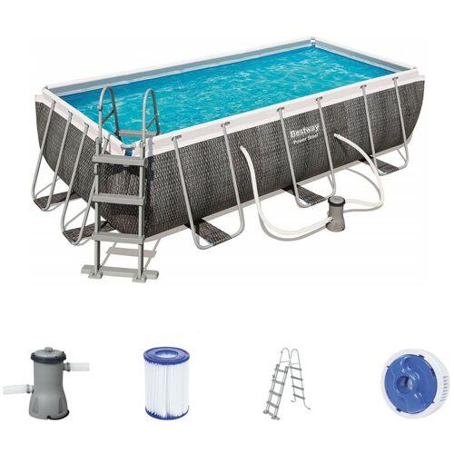 BESTWAY Frame Pool Set 404 x 201 Rattan 56721 - Bestway
