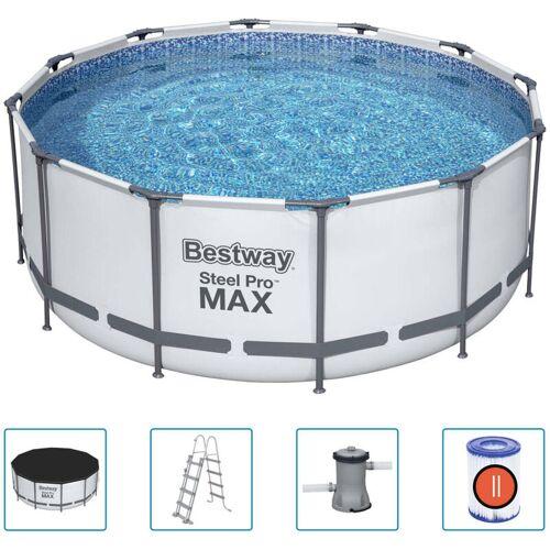 BESTWAY Steel Pro MAX Swimmingpool-Set Rund 366x122 cm - Bestway