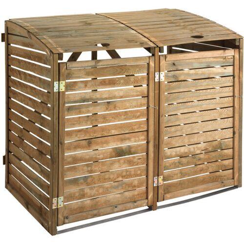 Jardipolys - Doppelte Mülltonnenbox   150 x 91 cm