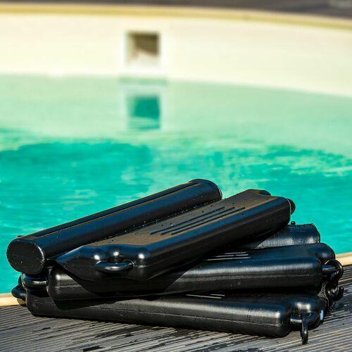 Pool Total - 28 Stück Eisdruckpolster schwarz mit Haken und Ösen