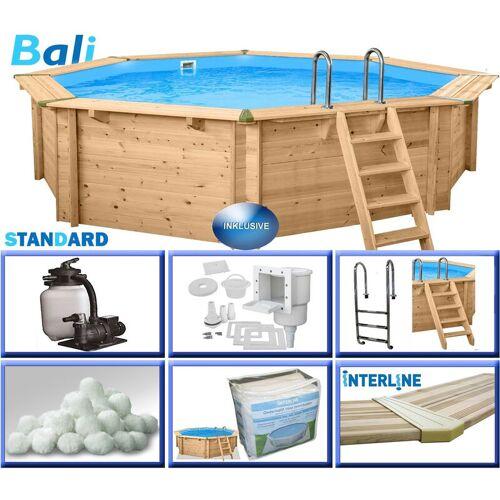INTERLINE Holzpool-Set BASIC Bali 8-Eck 6,55 x 1,36 m