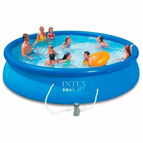 Intex 28132 Aufstellpool Easy-Pool Set Quick Up Aufblasbar Rund 366x76