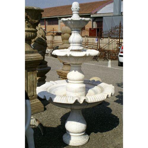 BISCOTTINI Springbrunnen aus Marmor. Durchmesser 97xH180 cm