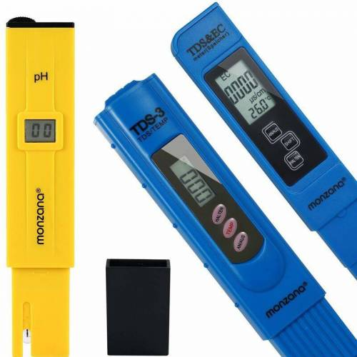 MONZANA Wassertester Set   Messgerät PH EC Temp   Pool Tester Digital