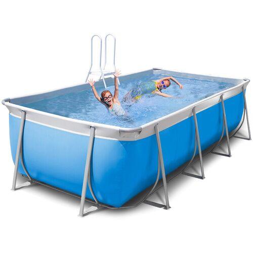 NEW PLAST Oberirdischer rechteckiger Pool 460x265 H125 New Plast komplett Futura