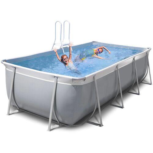 NEW PLAST Oberirdischer rechteckiger Pool 460x265 H125 New Plast komplett