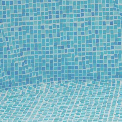 POOLPROFI NORDHESSEN Pool Folie oval 3,70m x 7,30m x 1,20m Folie 0,3mm mosaic Überlappung