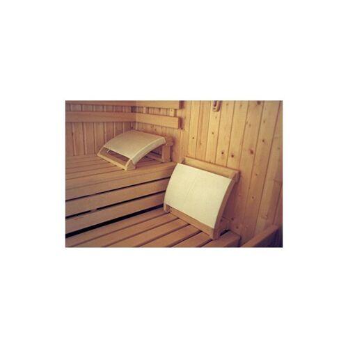 SUDOREWELL® Sauna Kopfstütze geschweift mit Stoffbezug plus 10g Mentholkristalle