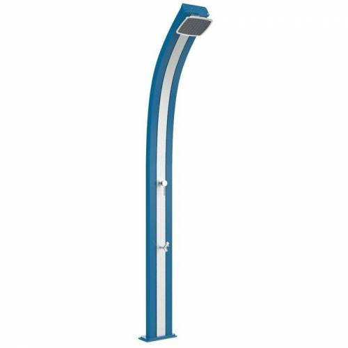 ARKEMA DESIGN - PRODOTTO MADE IN ITALY Solardusche Spring Blau und Inox cm 26x12x224 CV-A120/5012-I - Arkema