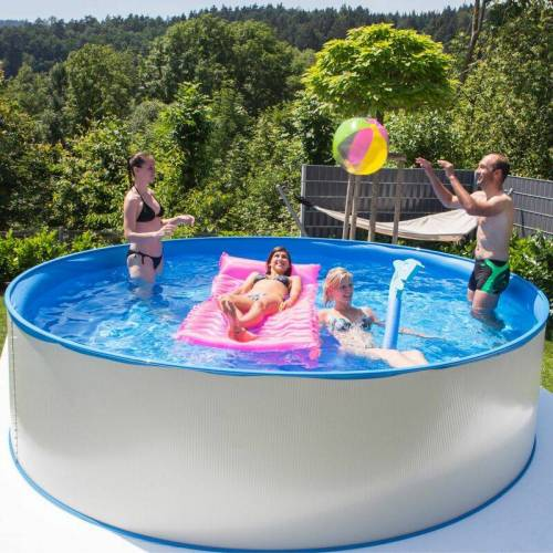 STEINBACH Swimming Pool 'New Splasher Secure' weiß Ø 350 x 90 cm - Steinbach