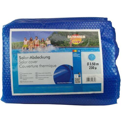 SUMMER FUN Sommer Poolabdeckung Solar Rund 350 cm PE Blau - Summer Fun