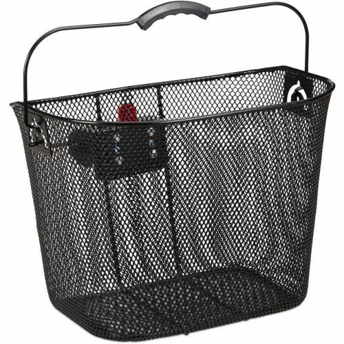 RELAXDAYS Fahrradkorb für Vorne, abnehmbar, mit Klicksystem, Lenkerkorb Metall,