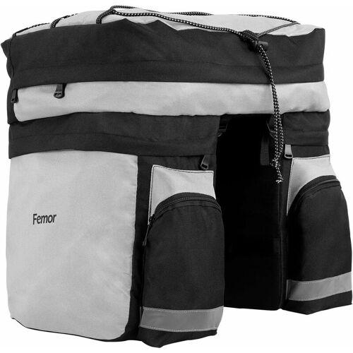 Femor Fahrradtasche 3 in 1 für Gepäckträger, große Kapazität von 60 l,