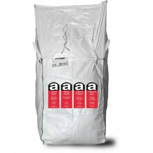 Asup - 30x Big Bag mit Beschriftung 'Asbest' light 90 x 90 x 110 cm