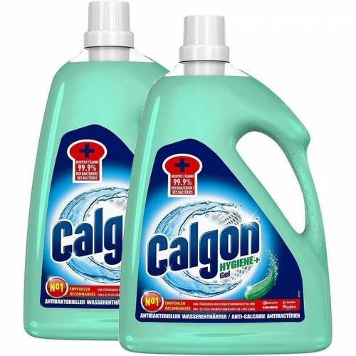 CALGON Hygiene+ Gel Antibakterieller Wasserenthärter Waschmittel DUO 2 x 2,25l