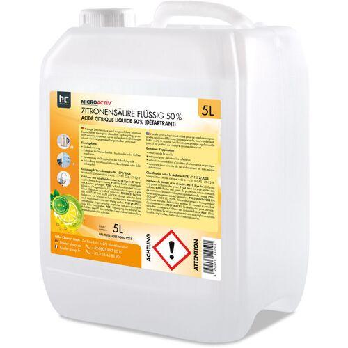HöFER CHEMIE 4 x 5 Liter Zitronensäure 50% flüssig