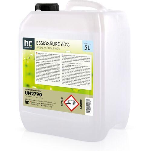 HöFER CHEMIE 1 x 5 Liter Essigsäure 60% in 5 L Kanistern
