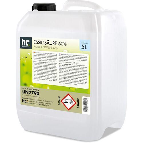 HöFER CHEMIE 4 x 5 Liter Essigsäure 60% in Kanistern