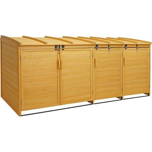 HHG XL 4er-/8er-Mülltonnenverkleidung 019, Mülltonnenbox, erweiterbar