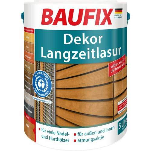 BAUFIX Dekor-Langzeitlasur teak 5 L - Baufix