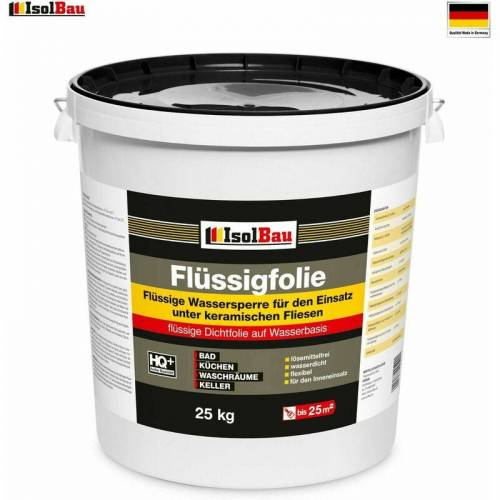 Isolbau - Flüssigfolie 25 kg Original Dichtfolie Abdichtung Bad Dusche