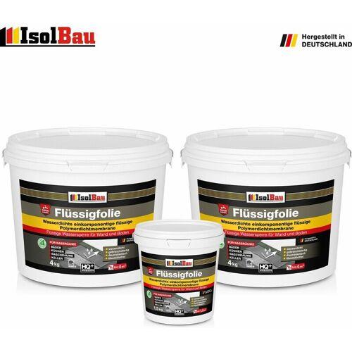 ISOLBAU Flüssigfolie 9,5 kg Dichtfolie Duschelement Sanitärabdichtung