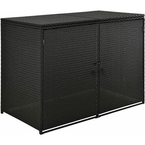 Juskys Mülltonnenbox Mol Aufbewahrungsbox für zwei Tonnen 1,2m²