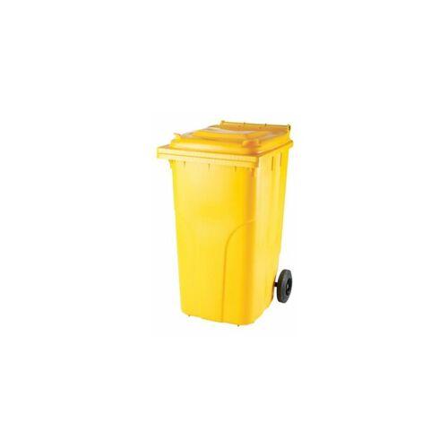 CERTEO Kunststoff-Mülltonne   Volumen 240 l   Gelb Mülltonne Abfalltonne
