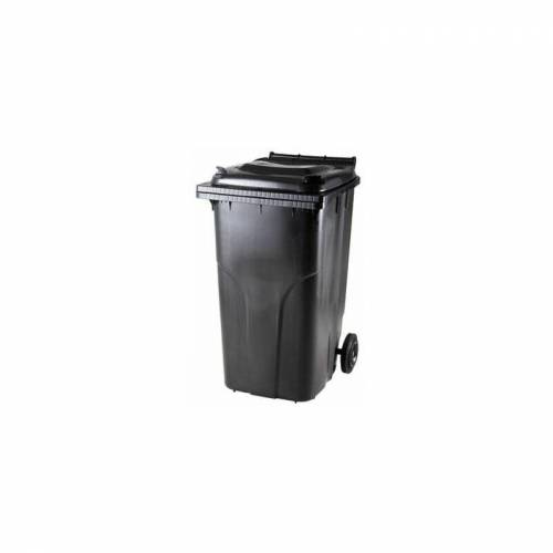 CERTEO Kunststoff-Mülltonne   Volumen 240 l   Schwarz Mülltonne Abfalltonne