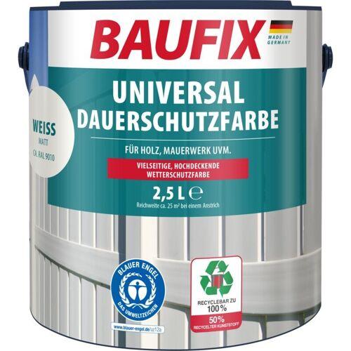 BAUFIX Universal-Dauerschutzfarbe matt weiß 2,5 L - Baufix