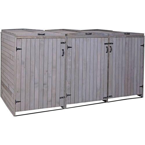 HHG XL 3er-/6er-Mülltonnenverkleidung 981, Mülltonnenbox, erweiterbar
