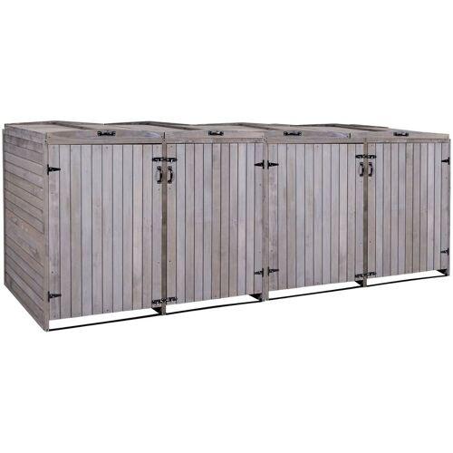 HHG XL 4er-/8er-Mülltonnenverkleidung 651, Mülltonnenbox, erweiterbar