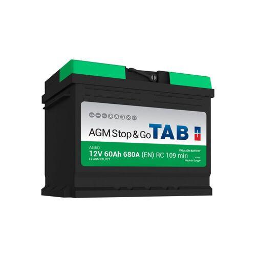 TAB Starterbatterie TAB Start & Stop AGM 12V 60Ah L2 AG60 680A
