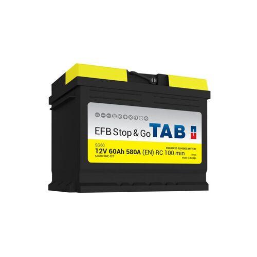 TAB Starterbatterie Start & Stop EFB L2 12V 60Ah 600A SG60 - TAB