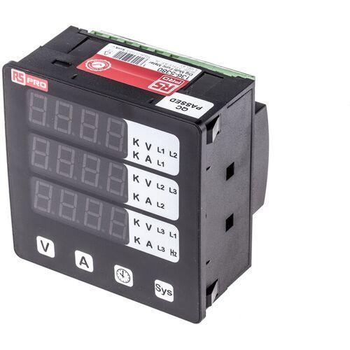 RS PRO LED Einbaumessgerät für Wechselstrom, Wechselspannung, Frequenz,
