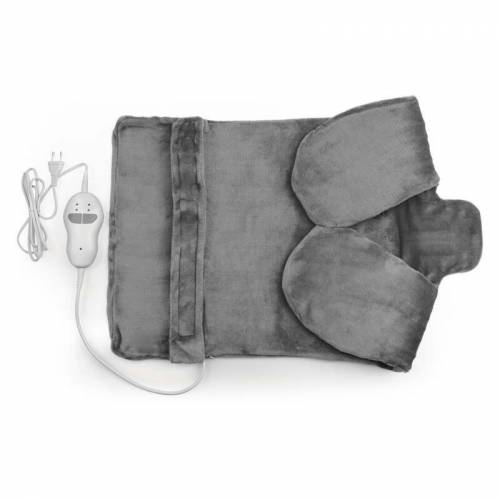 VITALMAXX 2 in 1 Heizdecke, Massagefunktion, 100 Watt, Grau - Vitalmaxx