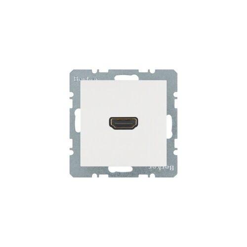 BERKER HDMI-Steckdose S.1/B.3/B.7 UP 1HDMI ws RAL9010 - BERKER