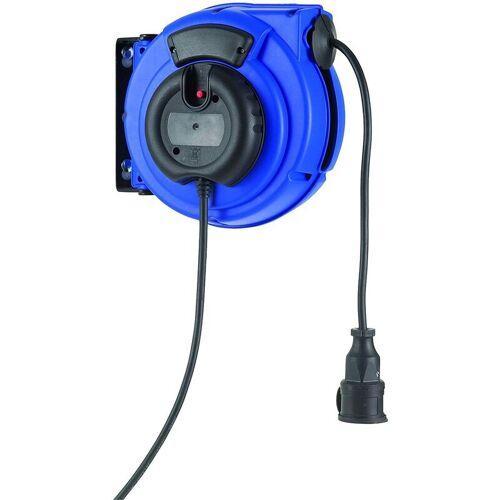 HEDI Federzugtrommel Elektro 15m Kabeltrommel 150° schwenkbar Stromkabel