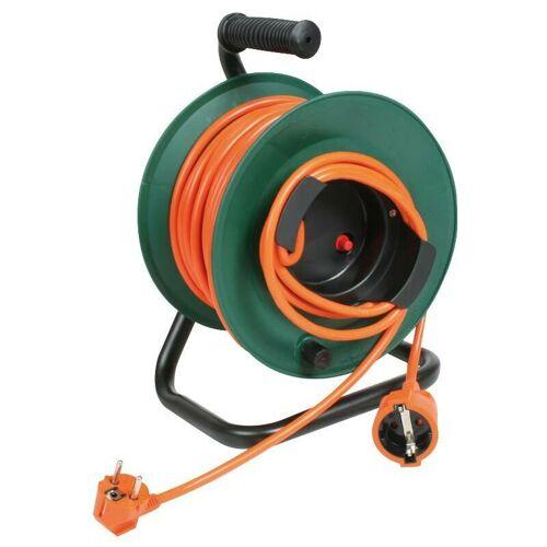 DUOLEC Kabeltrommel mit elektrischer Trommel Orange 25 M