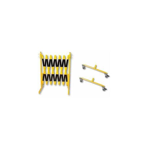 Certeo - dancop Scherengitter - mit 2 Rollfüßen, Länge max 3600 mm
