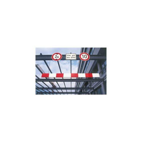 MORAVIA Höhenbegrenzer aus Aluminium - Länge 2500 mm - rot-weiß