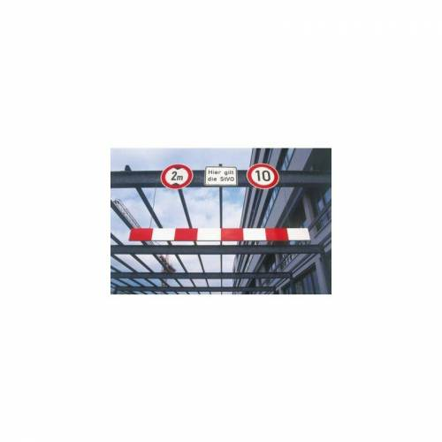 MORAVIA Höhenbegrenzer aus Aluminium - Länge 5000 mm - rot-weiß